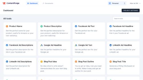ContentForge Dashboard
